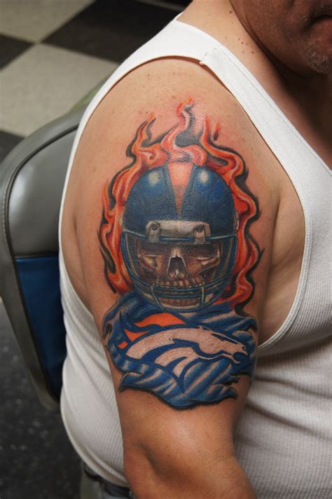 bronco tattoos broncos tattoos