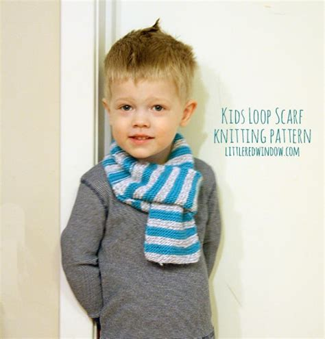 knitting pattern scarf boy kids loop scarf knitting pattern little red window