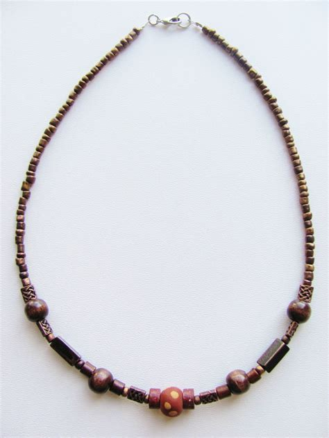 beaded necklace vintage copper s surfer style beaded choker necklace
