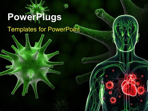 Powerpoint Template A Human Anatomy With Various Germs 2742 Virus Powerpoint Template Free