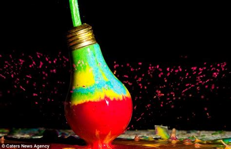 a bright idea indiana artist takes striking pics of light bulbs filled with colorful materials