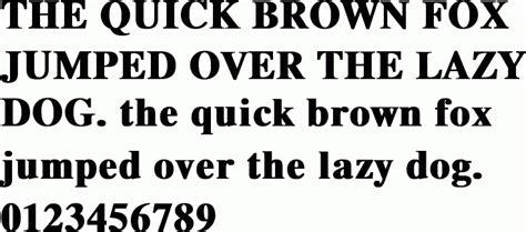 yu  times bold  font