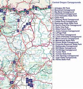 Oregon Campgrounds Map by Similiar Map Of Oregon Campgrounds Keywords