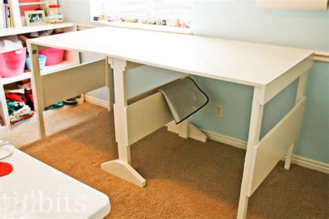 Folding Sewing Cutting Table Make A Folding Craft Cutting Table On The Cheap Tidbits Apartment Therapy