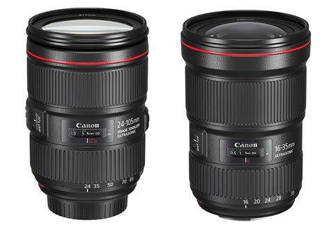 Terbaru Lensa Canon 24 105mm canon ef 24 105mm f 4l is ii usm and ef 16 35mm f 2 8l iii