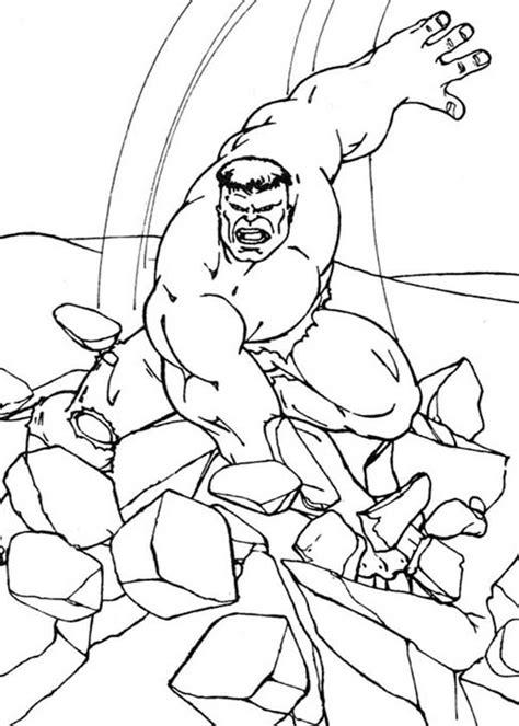 hulk smash coloring pages futpal com