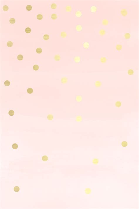 wallpaper gold pink lovely blush soft pink gold spots dots iphone wallpaper