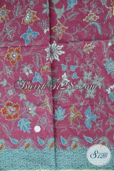 Kain Katun Batik Cantik kain batik klasik modern warna merah jambu untuk