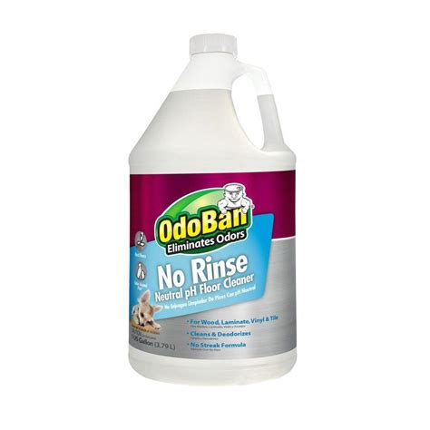 ph floor cleaner odoban 128 oz no rinse neutral ph floor cleaner 4 pack