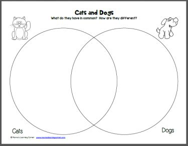 compare and contrast cats and dogs venn diagram cats and dogs venn diagram worksheet venn diagrams