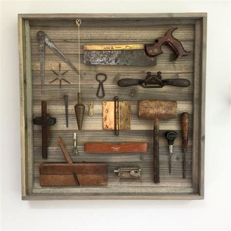 vintage tool display    woodworking tools