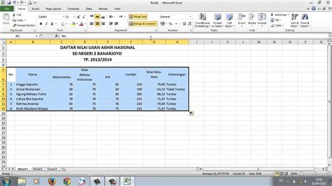 cara membuat data query di excel cara membuat database dalam ms excel youtube