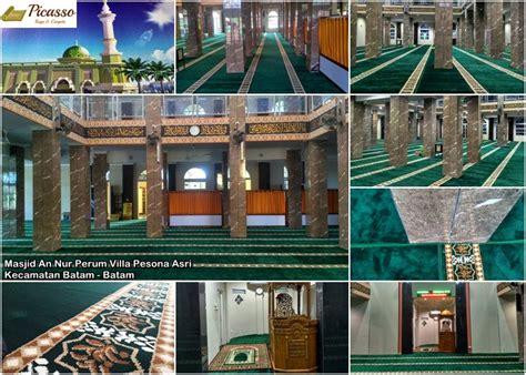 Karpet Masjid Di Batam masjid an nur perum villa pesona asri kecamatan batam