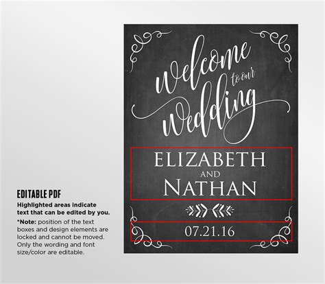 wedding sign templates free printable wedding a seat