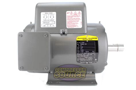 5 hp 3450 rpm 1 phase industrial baldor electric motor 184t frame l1409t 230 v ebay