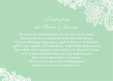 How To Ask For Gift Cards On An Invitation - how to ask for cash wedding gifts