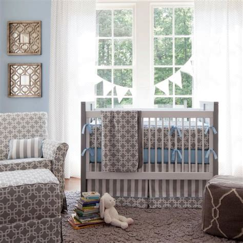 Baby Boy Blue Crib Bedding Gray Geometric Crib Bedding Baby Boy Crib Bedding In Gray And Blue Carousel Designs Nursery