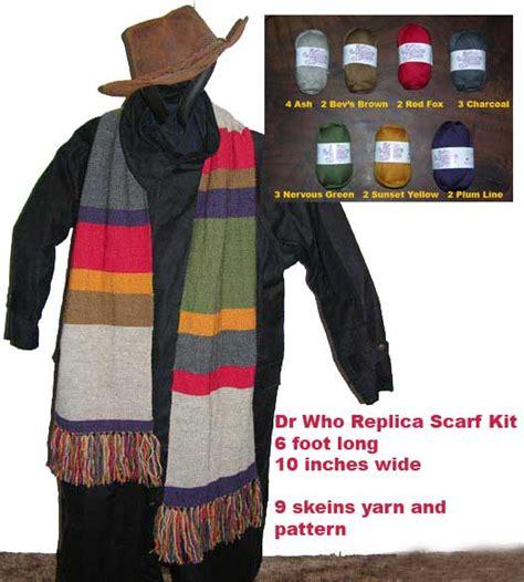 knitting pattern dr who scarf yarn kits and knitting patterns featuring knit dr who
