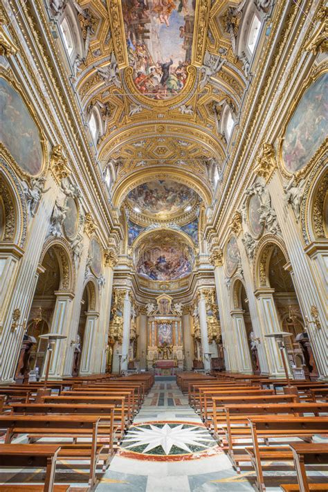 schip kerk rome het schip van barokke kerk chiesa nuova santa