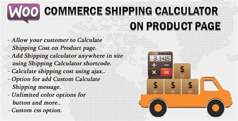 ecommerce university shipping calculator showing html woocommerce shipping calculator on product page v1 6