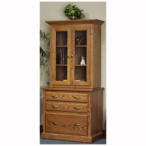 highland file cabinet with hutch home wood furniture