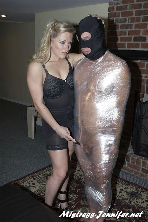Wrapped Male Slave Teased By Miss Dia Armed With Knife Gallery From The Memberzone Of Mistress