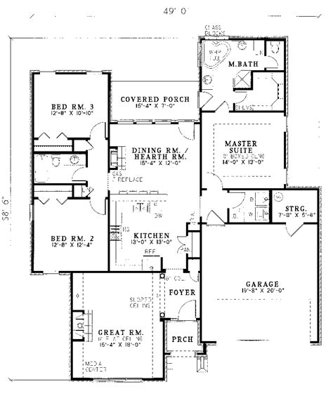 eatherton traditional home plan 055d 0043 house plans