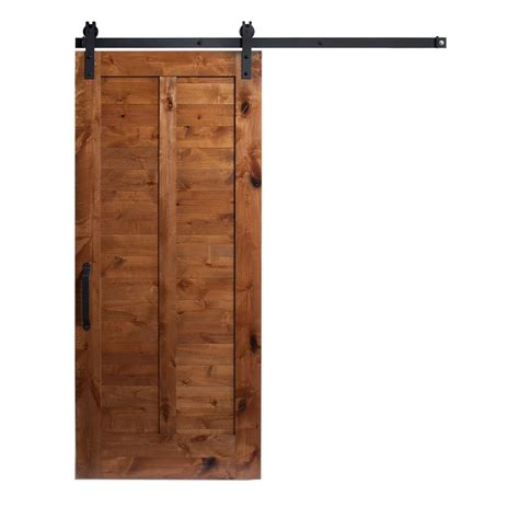 Rustic Hardware Barn Door Rustica Hardware 36 In X 84 In Unassembled Stain And Clear Plantation Barn Door Kit With