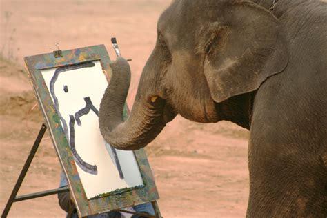 painting elephant elephant wondering fair