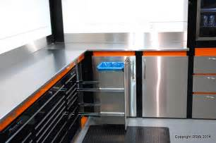 Garage cabinets with built in snap on toolbox dsw manufacturing inc