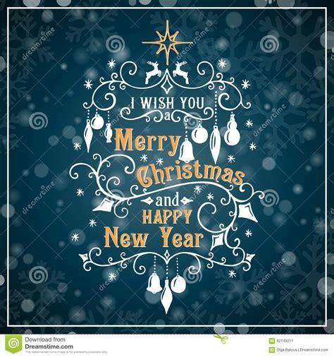 merry christmas  happy  year stock vector illustration  christmas design