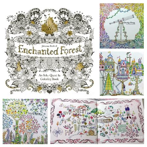 enchanted forest coloring book 73 enchanted forest an inky quest coloring book pdf