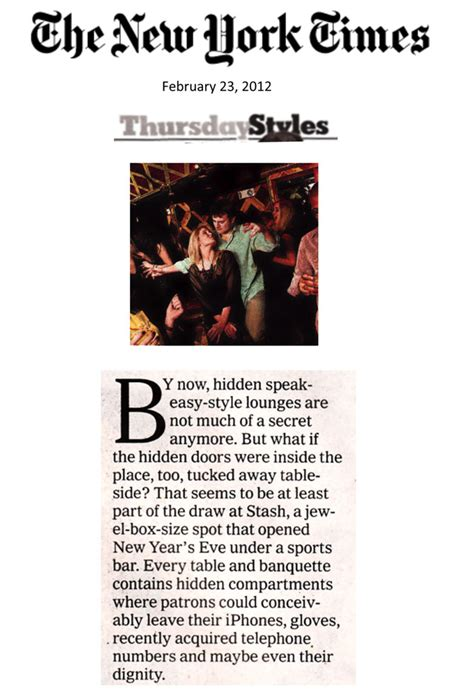 style section new york times s t a s h new york