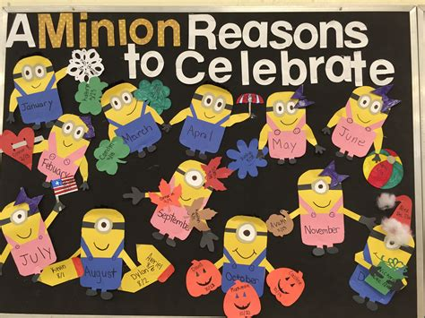 birthday bulletin board templates minion birthday bulletin board teaching resources