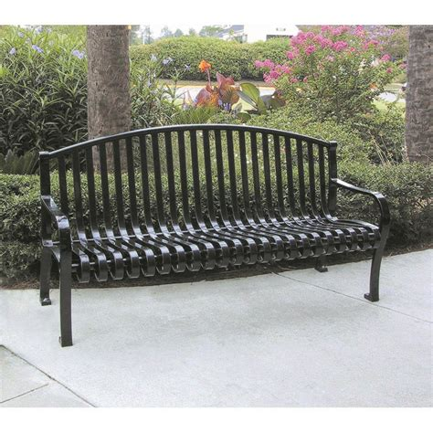 metal bench with back 6 metal strap bench with back arch top childforms