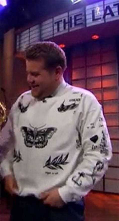 harry styles new tattoo james corden harry styles tattoo sweater shop for harry styles tattoo