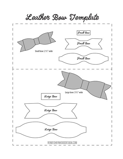 headband card template svg free no sew leather or felt bow template at www