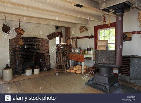 old farm kitchen summer kitchen at an old farmhouse stock photo 91274564
