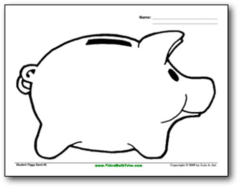 Piggy Bank Coloring Coloring Pages Piggy Bank Coloring Page