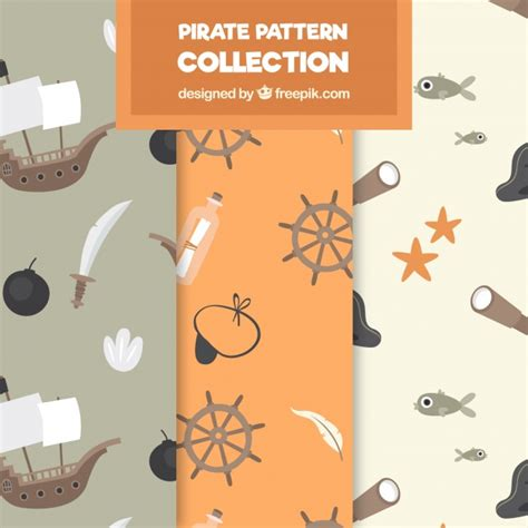 svg pattern object pack of patterns with pirate objects vector free download