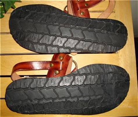 tire tread sandals vintage italian crafted brown leather gladiator tire tread