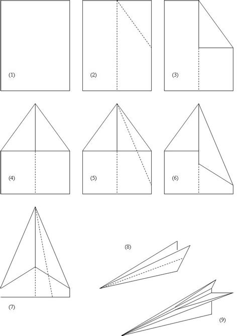 paper airplane templates for distance how to make a paper airplane fig 1 how to make a paper