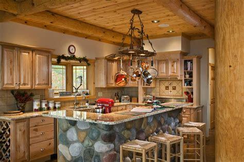 Log Cabin Kitchen Islands by Log Home Kitchen Log Cabin