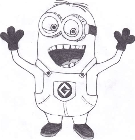 free to draw free draw a minion coloring pages