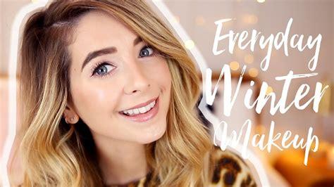 winter makeup tutorial zoella my everyday winter makeup zoella youtube