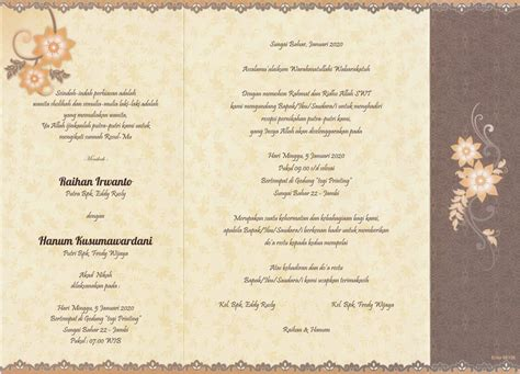 template undangan nikahan undangan pernikahan erba 88150 format coreldraw kumpulan