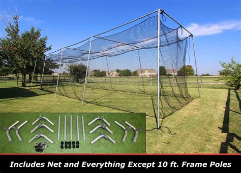 discount cimarron 40x12x10 24 batting cage frame and net kit