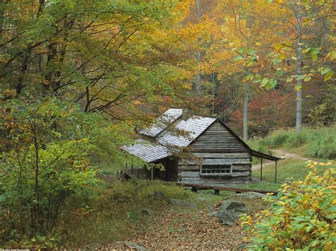 Cottages In Smoky Mountains by Homestead Cabin Smoky Mountains National Park Picture