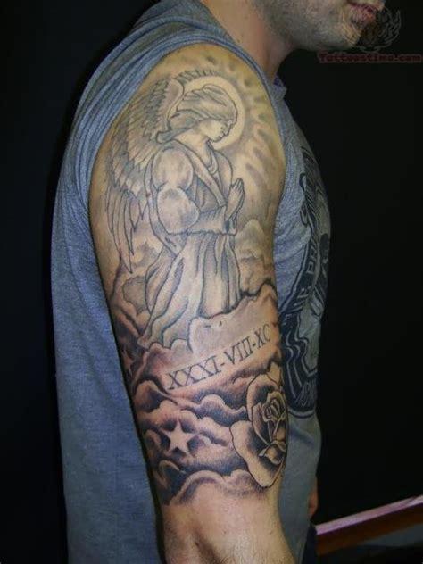 angel half sleeve tattoo plain half sleeve 4 cloud half sleeve on