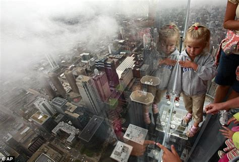 Glass Floor Building Chicago by Don T Look Terrifying View From Glass Box Balcony